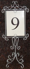 Table Number Holders- Scroll