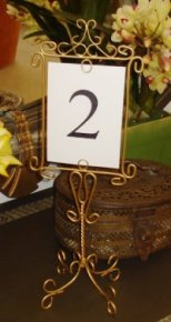 Table Number Holder- Scroll With Table Setting