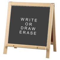 black board easel