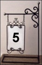 Table Number Holder  Silver