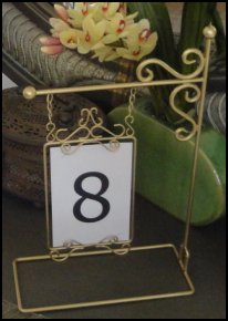 Table Number Holder- Lamp Post Gold